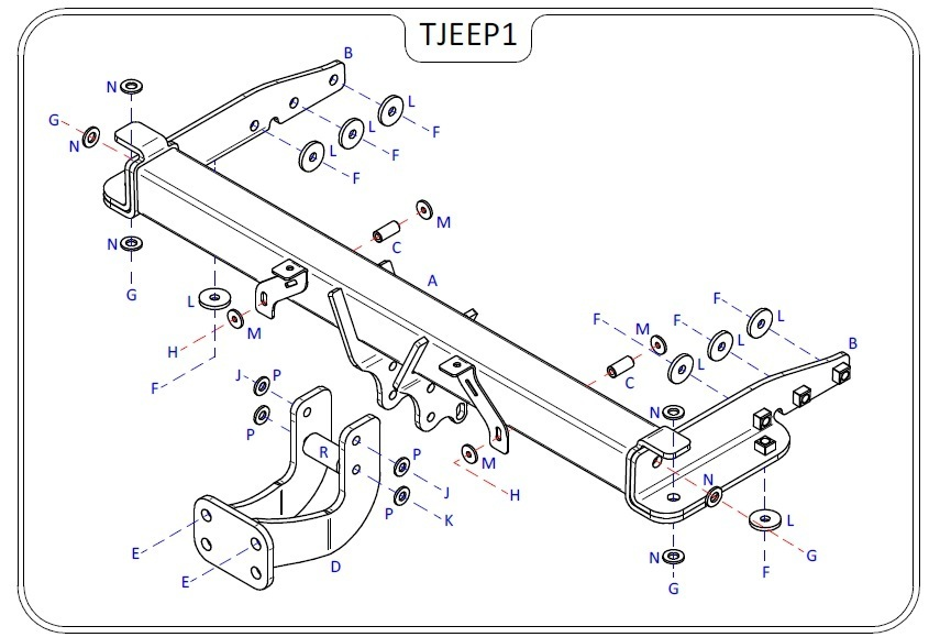 Jeep Grand Cherokee (WK) 2011 Onwards - Tow Trust Flange Towbar