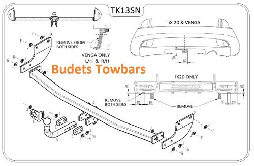 Hyundai ix20 2010 Onwards - Tow Trust Swan Neck Towbar