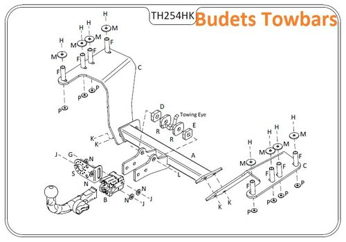 Honda CR - V (Mk2) (Spare Wheel on Door) 2002 - 2007 - Tow Trust Detachable Towbar