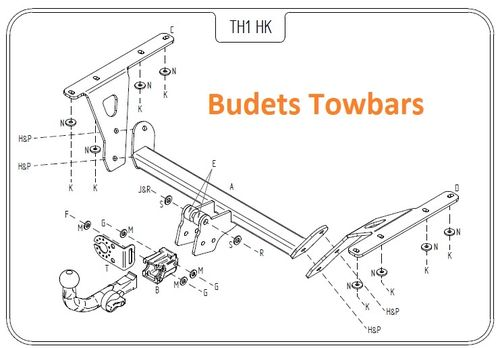 Honda CR - V (Mk3) (No Spare Wheel Rear Door) 2007 - 2012 - Tow Trust Detachable Towbar