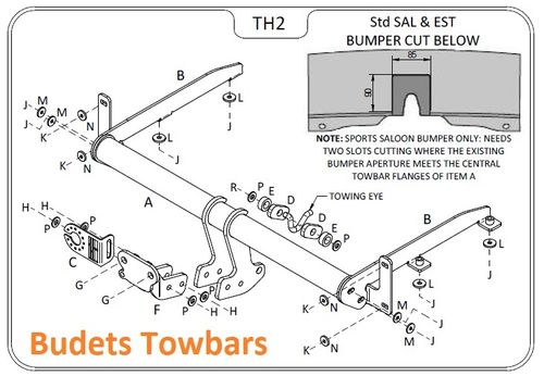 Honda Accord Estate (Tourer) 2008 Onwards - Tow Trust Flange Towbar