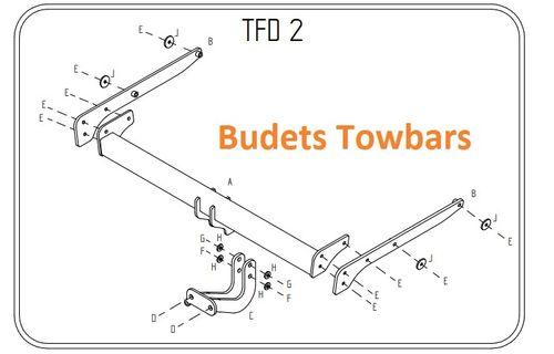 Ford Kuga 2WD & 4WD 2013 Onwards - Tow Trust Flange Towbar