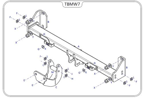 BMW 2 Series Coupe (F22) 2014 Onwards - Tow Trust Flange Towbar