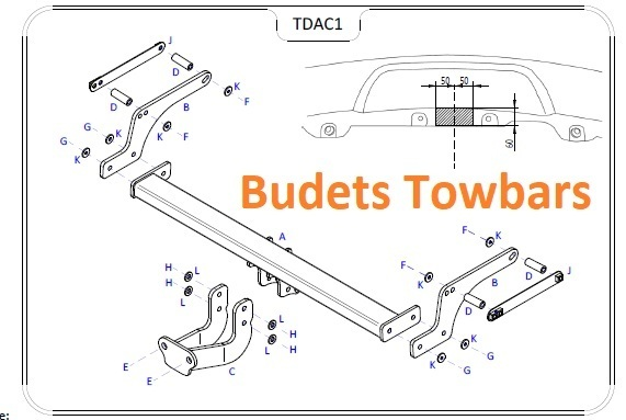 Dacia Duster 2WD/4WD 2010 Onwards - Tow Trust Flange Towbar