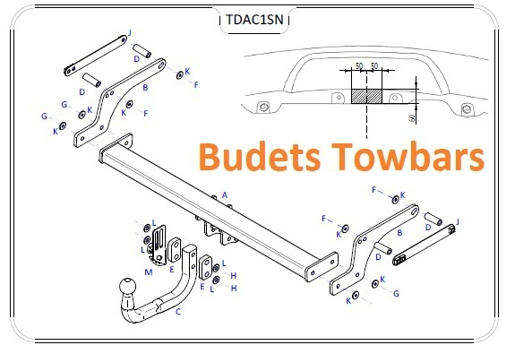 Dacia Duster 2WD / 4WD 2010 Onwards - Tow Trust Swan Neck Towbar