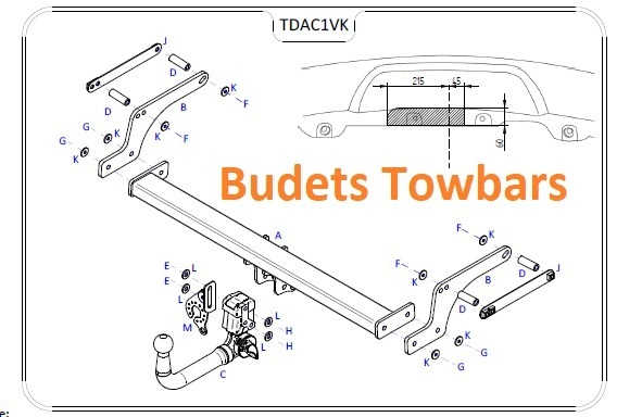 Dacia Duster 2WD / 4WD 2010 Onwards - Tow Trust Detachable Towbar