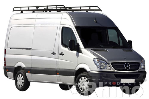Mercedes Sprinter Roof Rack MWB High Roof 2006 > 2018 Rhino Modular Racks
