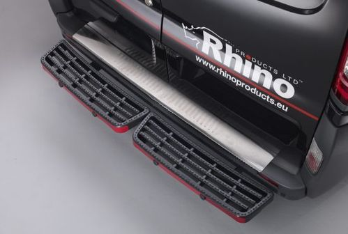 2010 to 2019 Fiat Doblo - Rear Steps Rhino Access Step