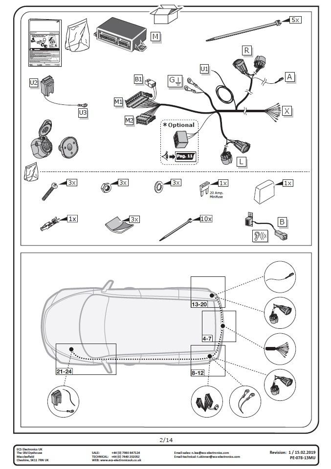 fiat ducato towbar wiring may 2011>2020 13pin dedicated electrics  budets & traderracks