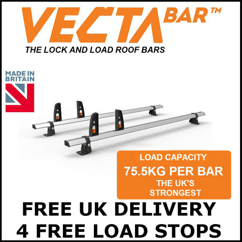 Vauxhall Vivaro Roof Bars July 2019 to 2020 Low Roof  2 or 3 VECTA Bar Kits