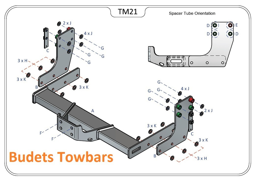 Tow Trust Flange Tow Bar - Sprinter Van FWD (Bumper Step) 2018 Onwards