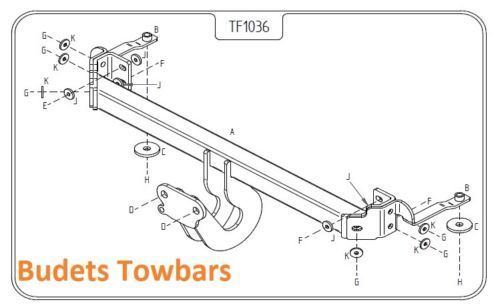 Fiat Panda 2004 - 2012 Tow Trust Fixed Flange Tow Bar
