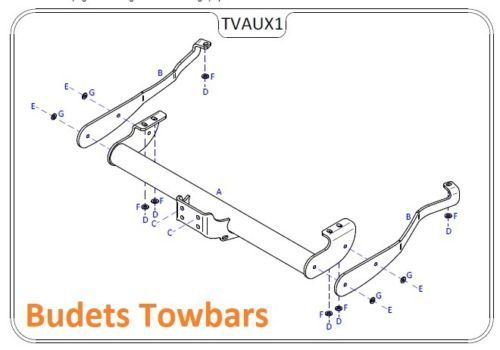 For Fiat Talento Tow Bar 2016 > 2020 Tow Trust Flange Tow Bars