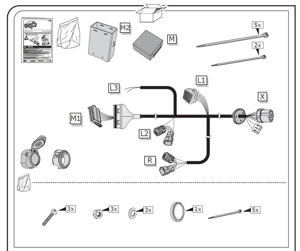 For Isuzu D-Max Tow Bar Wiring May 2012 /> 2020 13 Pin DEDICATED Towing Electrics
