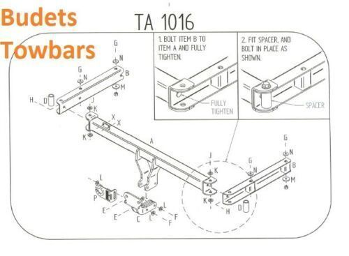 Audi A4 Estate Tow Bar (B8) 2008 To 2016 Tow Trust Flange Tow Bars