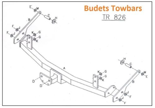 Renault Laguna 2 Hatch 2001-2007 - Tow Trust Fixed Flange Tow Bar