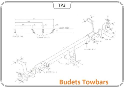 Citroen Relay 2006>2020 Tow Trust Flange Tow Bar Kit Hitches Draw Bars