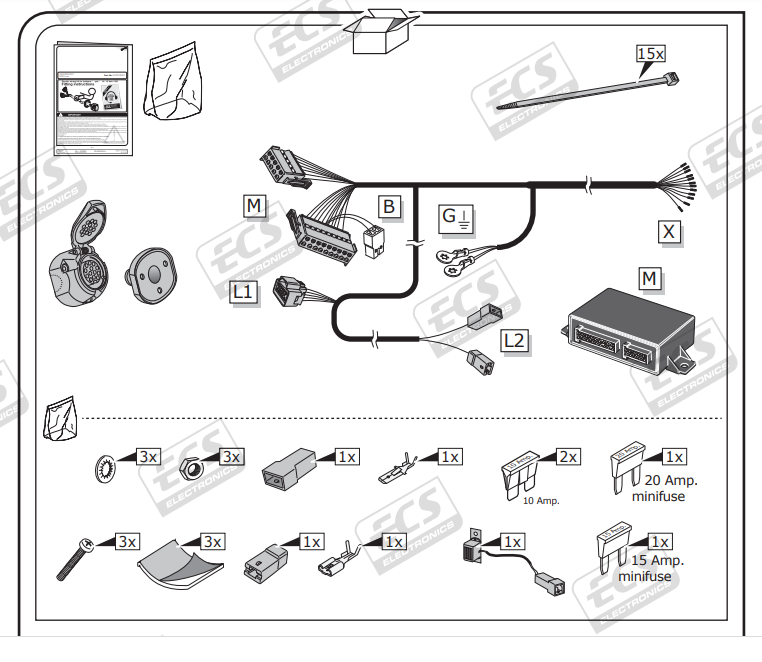 May 2018 13 Pin Dedicated Tow Bar Electrics, Citroen Berlingo Towbar Wiring Diagram